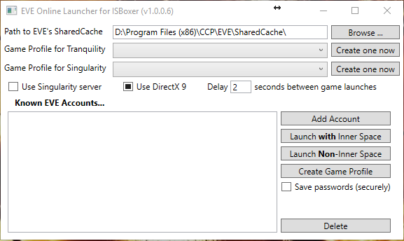 Using ISBoxer EVE Launcher + ISXEVE